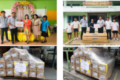 Fluoresence lamp donate to schools in 2019