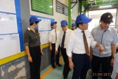Board of director visited factory in 2017